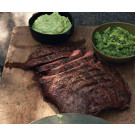 Beer-Marinated Flank Steak with 2 Sauces