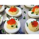 Deviled Eggs with Salmon Caviar