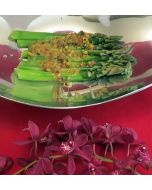 Asparagus with Pistachio-Lemon Sauce