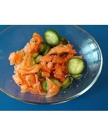 Phase 2 Snack: Smoked Salmon, Cucumbers and Lime