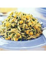 Shredded Zucchini Sauteed with Corn and Chives