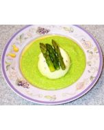 Asparagus Flan With Baby Pea Crème