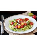 Zucchini Noodles With Lemon, Tomato and Feta