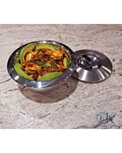 Oggi Double-Walled Stainless Steel Bowls with Lids
