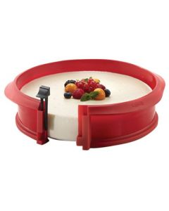 """Lékué Silicone and Ceramic Spring Form 9"""" Pan"""