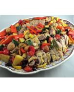 Pork Tenderloin Roasted With Tomatoes, Potatoes, and Olives
