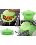 Lékué Collapsible Silicone Steamer