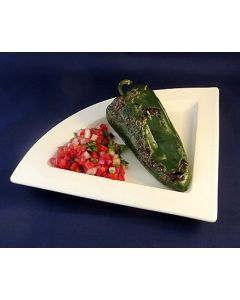 Grilled Cheese-stuffed Ancho Chili With Salsa Fresca